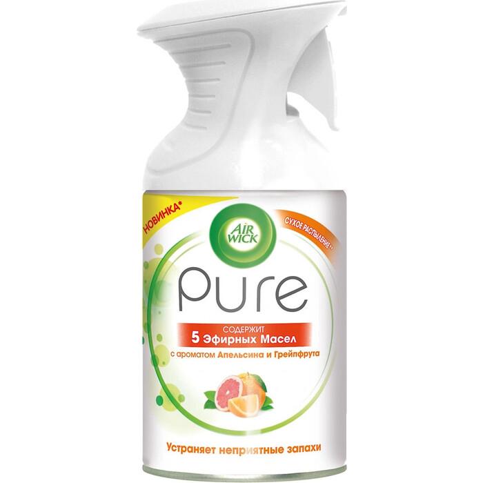Освежитель воздуха Air Wick Pure Апельсин и гейпфрут 5 Эфирных Масел 250 мл