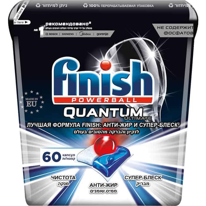 Капсулы для посудомоечной машины (ПММ) Finish Ultimate 60 шт коробка