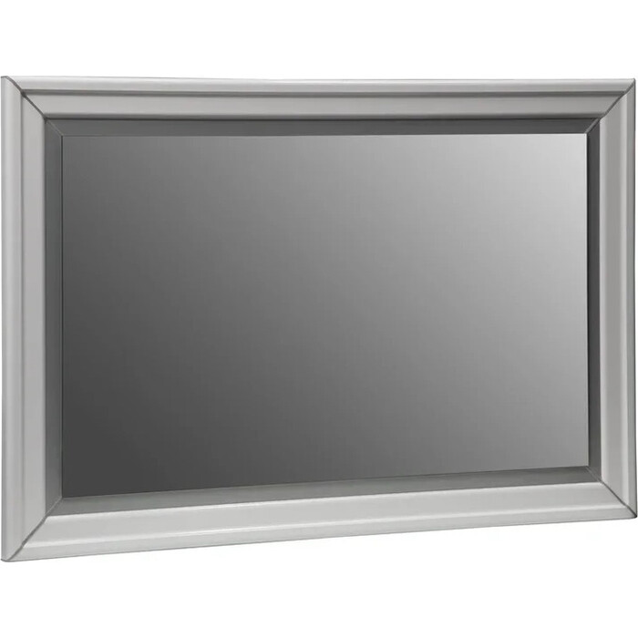 Зеркало навесное ОЛМЕКО 38.06 Беатрис белый/профиль: Kroning белый глянец с серебром