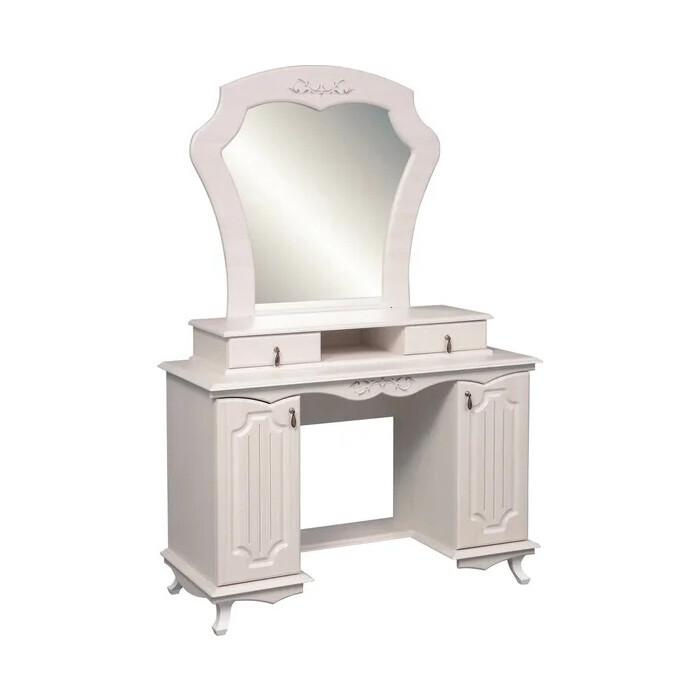 Стол туалетный ОЛМЕКО 06.33 Кантри патина вудлайн кремовый/ДВПО: белый/ПВХ сандал белый