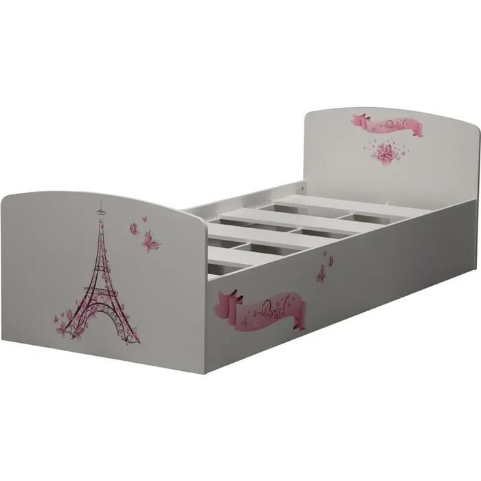 Кровать одинарная ОЛМЕКО Лего-2 Париж/белый