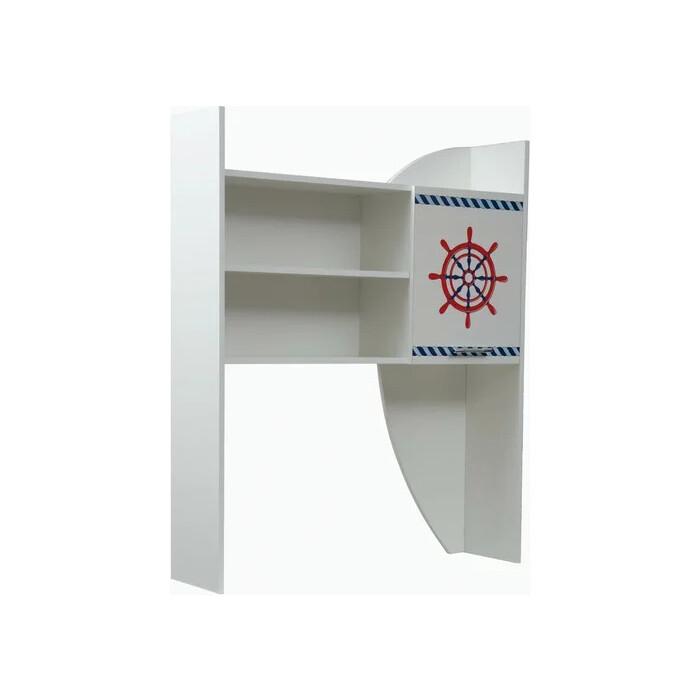 Секция с полками ОЛМЕКО Лего-5 кораблик/белый