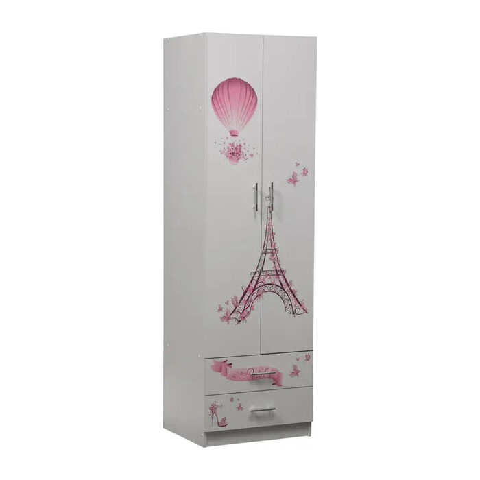Шкаф для одежды ОЛМЕКО Лего-3 Париж/белый