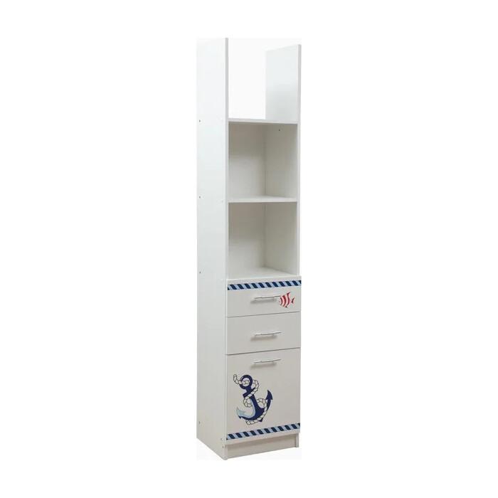 Шкаф комбинированный ОЛМЕКО Лего-6 кораблик/белый