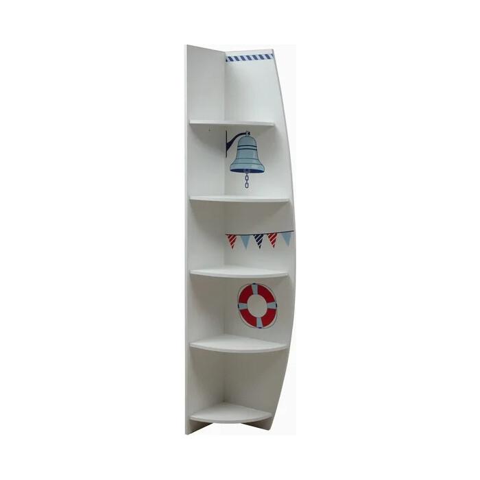Шкаф комбинированный ОЛМЕКО Лего-7 левый кораблик/белый
