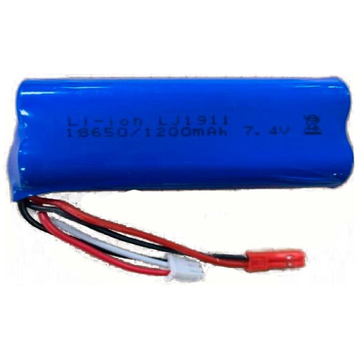 Аккумулятор HUI NA TOYS Li-Po 1200mAh, 7.4V JST для Huina 1592 - HNB-80072