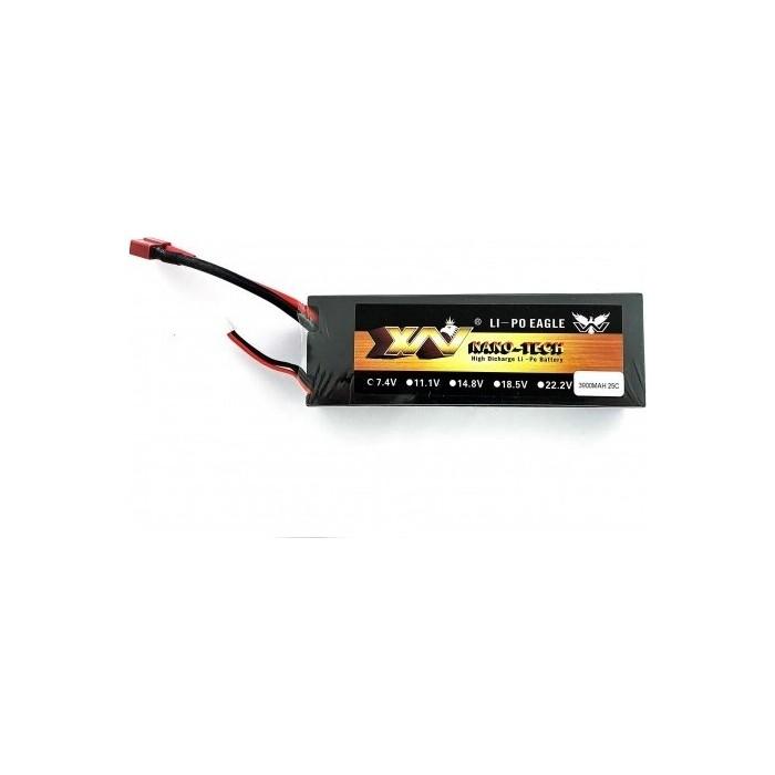 Аккумулятор Nano-Tech Li-Po 7.4 3900mah 25C - 7.4-3900