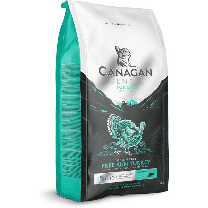 Сухой корм CANAGAN GF Dental, 4 кг, для кошек, Индейка, ухода за полостью рта (100.235)