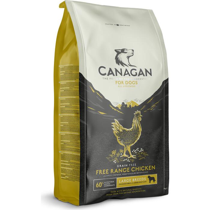 Сухой корм CANAGAN GF Free-Run Chicken, 2 кг, для собак крупных пород, Цыпленок (100.015)