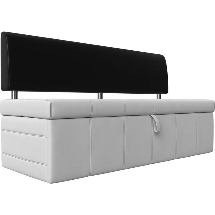 Фото - Кухонный прямой диван АртМебель Стоун эко кожа белый/черный кухонный прямой диван артмебель стоун эко кожа черный белый
