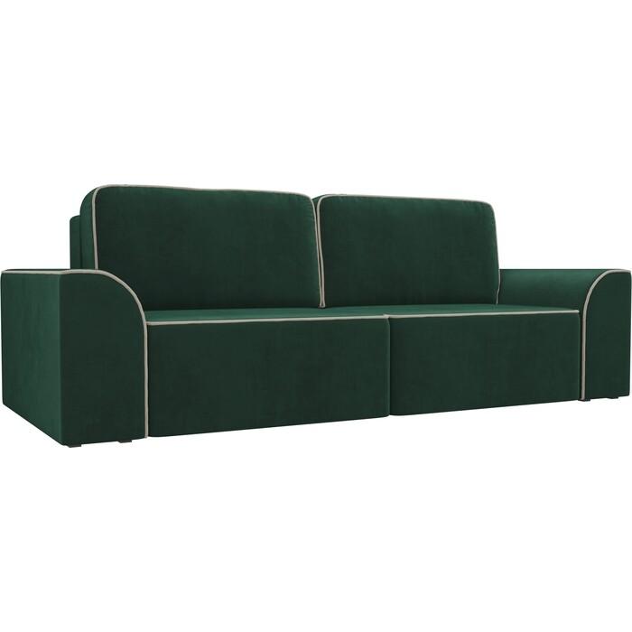 Прямой диван АртМебель Вилсон велюр зеленый