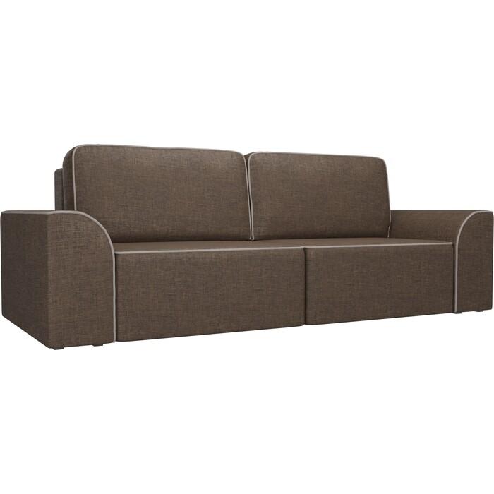 Прямой диван АртМебель Вилсон рогожка коричневый