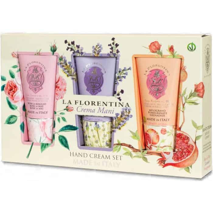 Набор La Florentina Крема (Rose of May, Lavender, Pomegranate/ Майская роза, Лаванда, Гранат) 3x75 мл