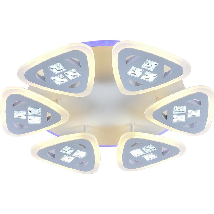 Люстра Profit Light Светодиодная 18028/6 WHT 132W+11W RGB