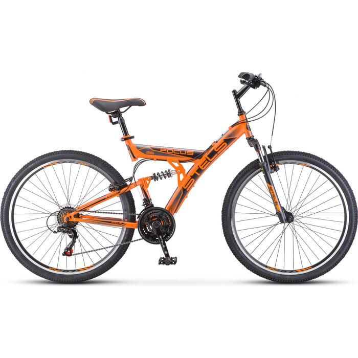 Велосипед Stels Focus V 26 18-sp V030 18 Оранжевый/чёрный велосипед stels 2612 v