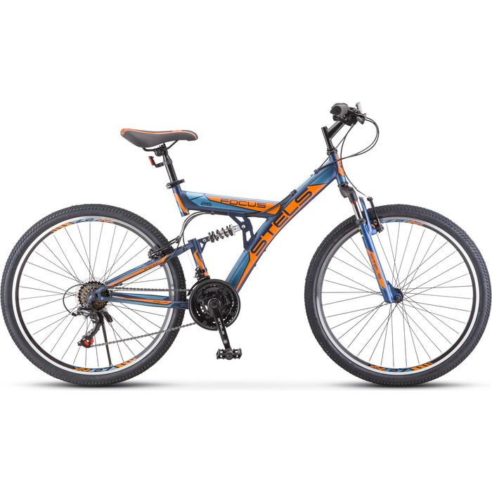 Велосипед Stels 26 Focus V 18-sp (18 Тёмно-синий/оранжевый) V030