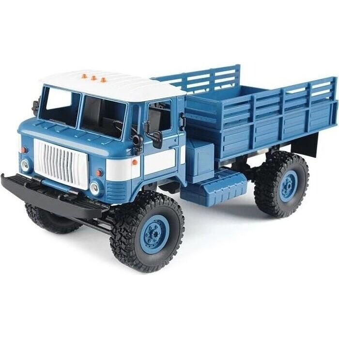 Радиоуправляемая машина MN MODEL ГАЗ-66 грузовая (синяя) 4WD 2.4G 1/16 RTR - MN-66B