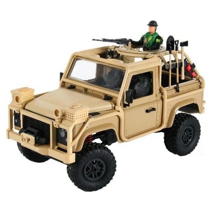 Радиоуправляемая машина MN MODEL англ. пикап Defender спецназ рейнджеров (песочн) 4WD 2.4G 1/12 RTR - MN-96Y
