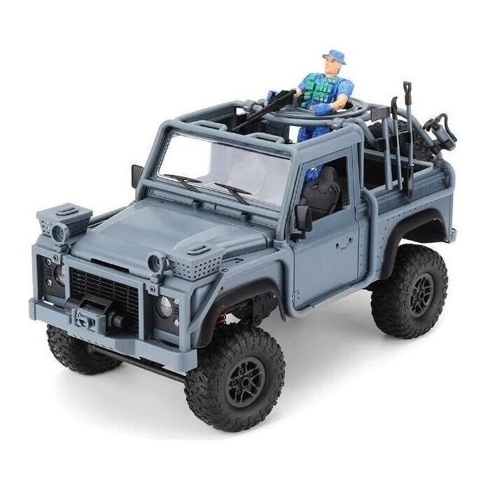 Радиоуправляемая машина MN MODEL англ. пикап Defender спецназ рейнджеров (синий) 4WD 2.4G 1/12 RTR - MN-96B