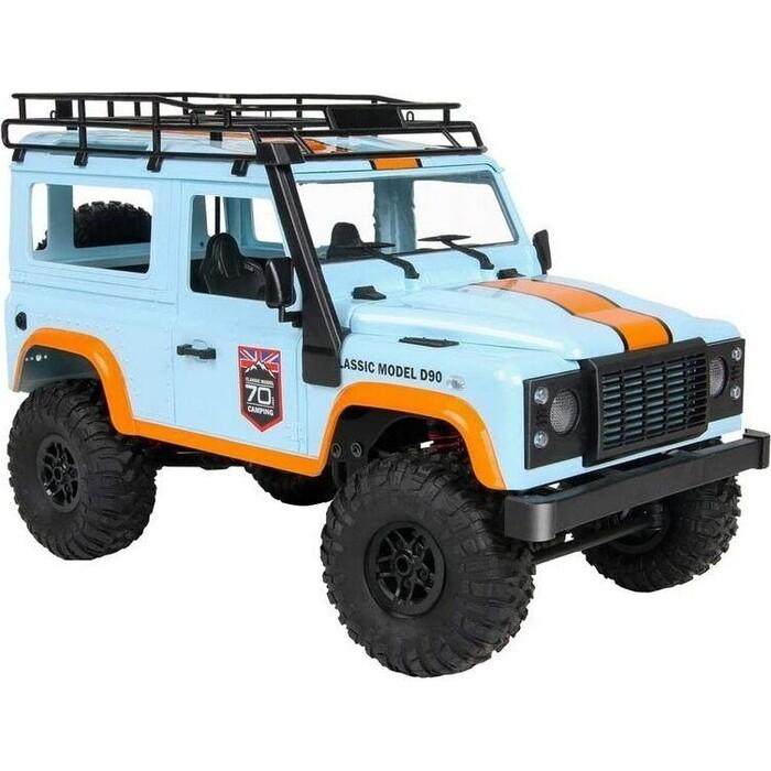 Радиоуправляемая машина MN MODEL английский внедорожник Defender D90 (голубой) 4WD 2.4G 1/12 RTR - MN-99B