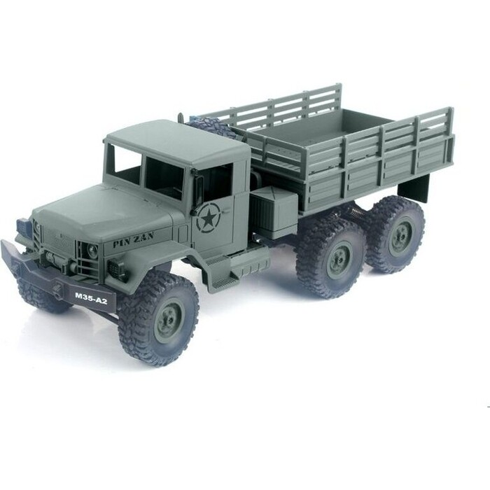 Радиоуправляемая машина MN MODEL военный грузовик (зеленый) 6WD 2.4G 1/16 RTR - MN-77C