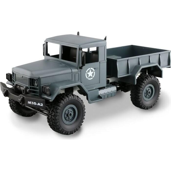 Радиоуправляемая машина MN MODEL военный грузовик (серый) 4WD 2.4G 1/16 RTR - MN-35G