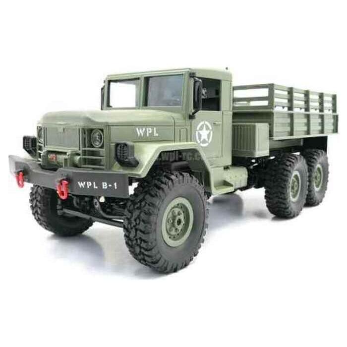 Радиоуправляемая машина WPL военный грузовик (зеленый) 6WD 2.4G 1/16 KIT - B-16KM-G