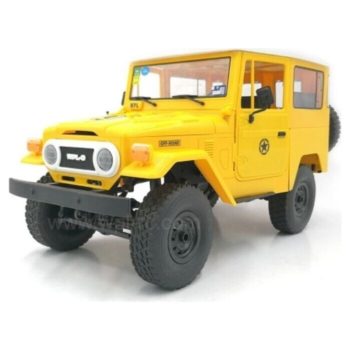 Радиоуправляемая машина WPL японский внедорожник FJ40 (желтая) 4WD 2.4G 1/16 RTR - C-34-Y