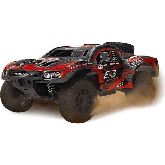 Радиоуправляемый краулер Remo Hobby шорт-корс EX3 (красный) 4WD 2.4G, 1:10 RTR - RH10EX3PRO-RED