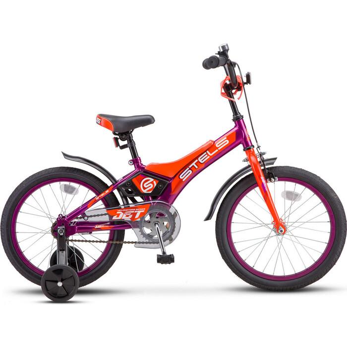 Велосипед Stels Jet 16 Z010 9 Фиолетовый/оранжевый