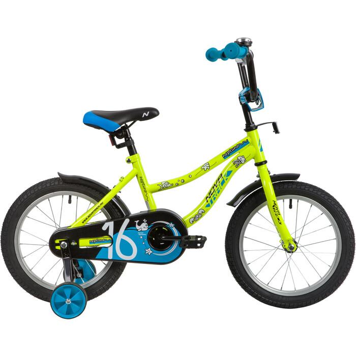 Велосипед NOVATRACK NEPTUNE 16 (2020) салатовый one size
