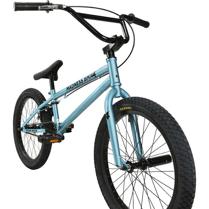 Велосипед Stark Madness BMX 4 (2021) голубой/черный one size