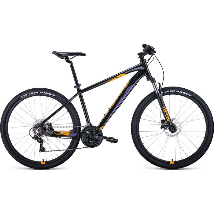 Фото - Велосипед Forward Apache 27,5 3.2 Disc (2021) 21 черный/оранжевый велосипед giant escape 3 disc 2021 металик черный m