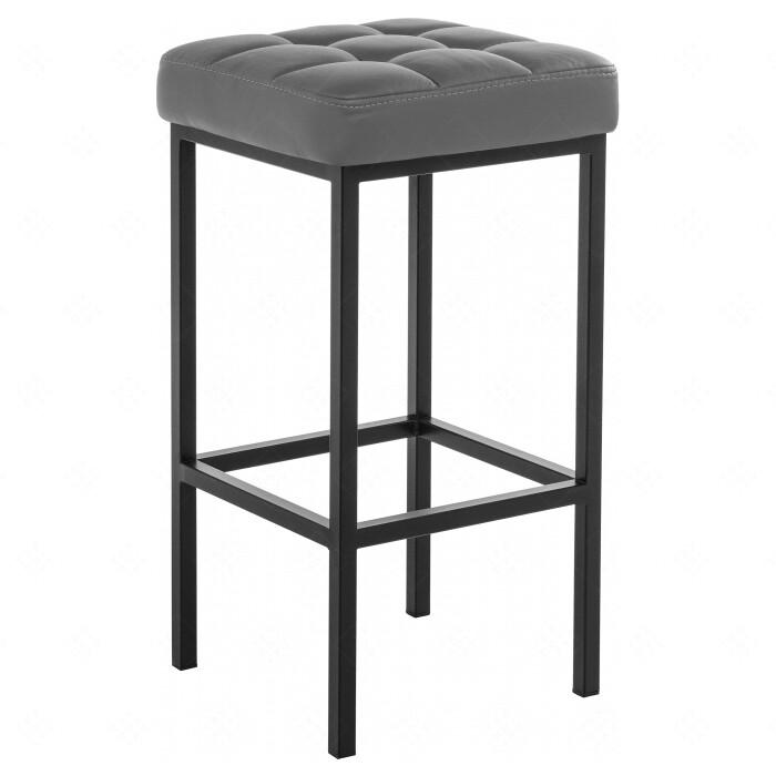 Барный стул Woodville Лофт кожзам темно-серый/черный матовый барный стул woodville orion черный