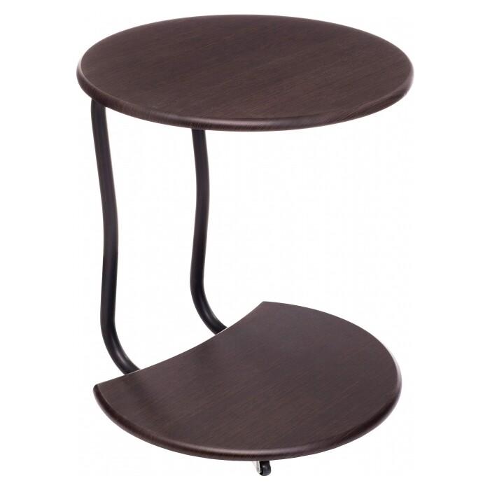 Журнальный столик Woodville Андромеда черный матовый/орех
