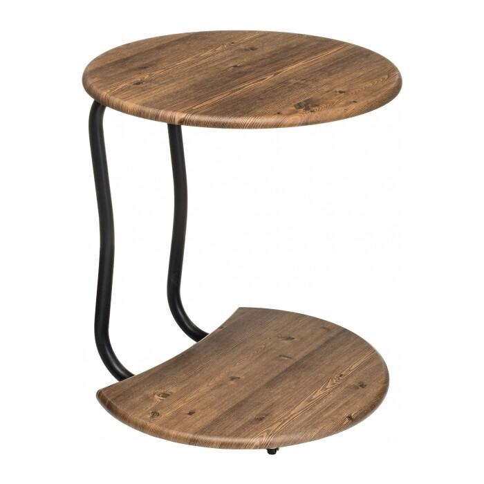 Журнальный столик Woodville Андромеда черный матовый/старое дерево