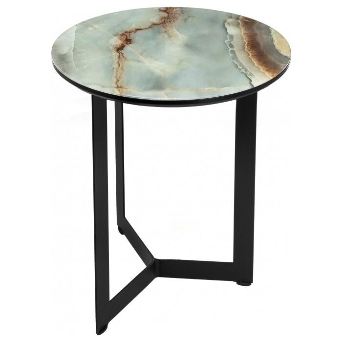 Журнальный столик Woodville Роб D-450 голубой мрамор