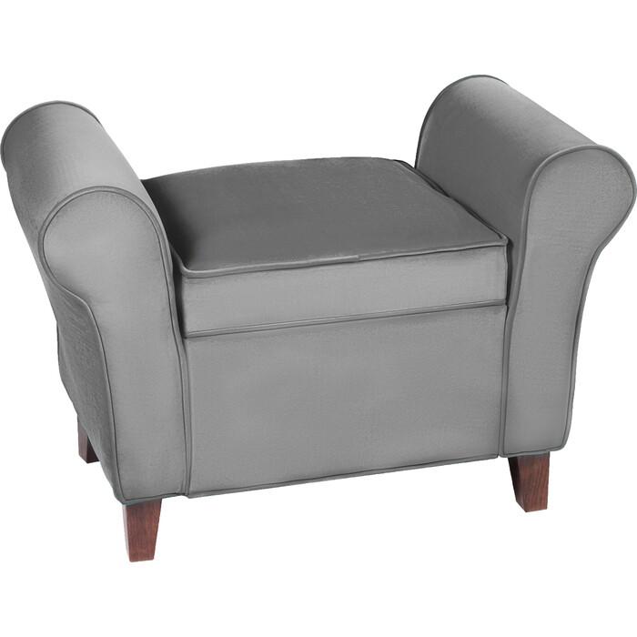 Банкетка Мебельстория Октавия-2 серый велюр