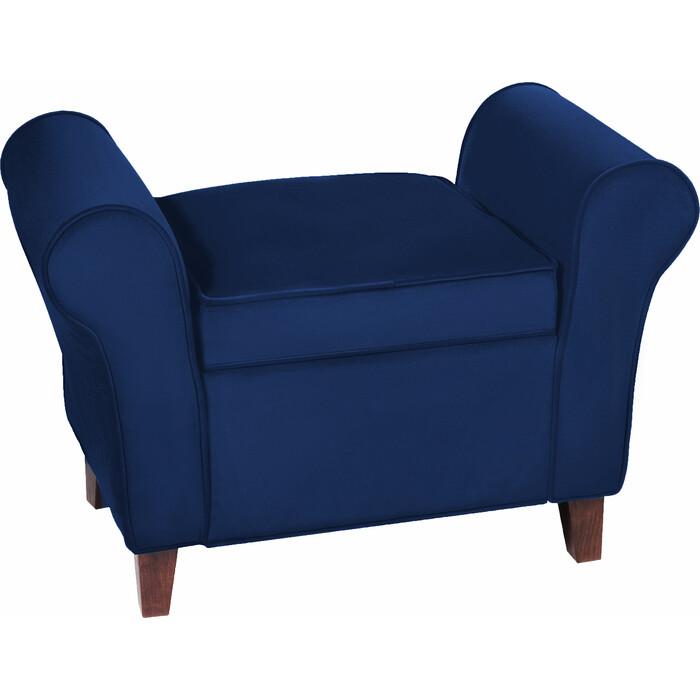 Банкетка Мебельстория Октавия-2 синий велюр