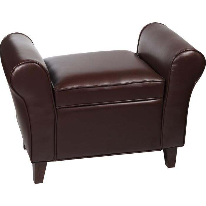 Банкетка Мебельстория Октавия-2К коричневый к/з