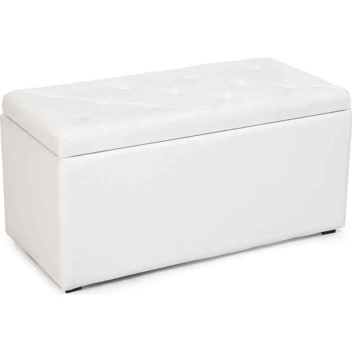 Пуф Мебельстория Тони-3 белый к/з пуф euroson тони 3 коричневый