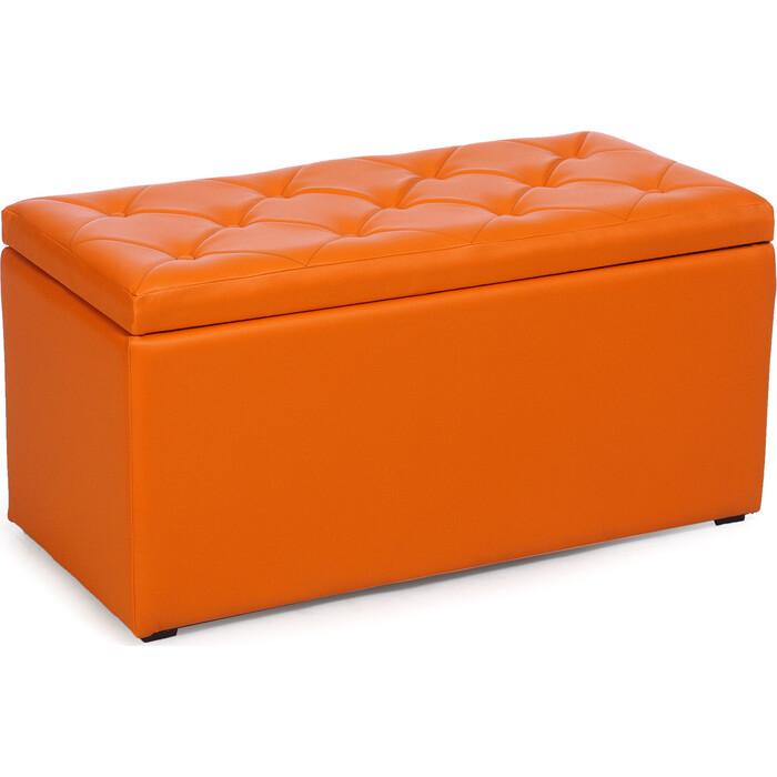 Пуф Мебельстория Тони-3 оранжевый к/з пуф euroson тони 3 коричневый