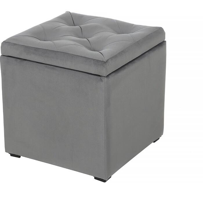 Пуф Мебельстория Тони-2Т серый велюр пуф euroson тони 3 коричневый