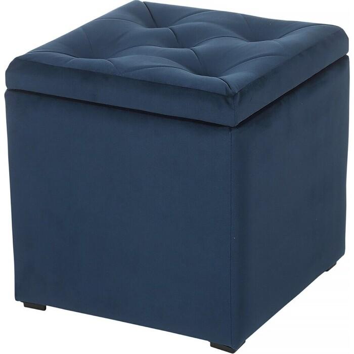 Пуф Мебельстория Тони-2Т синий велюр пуф euroson тони 3 коричневый