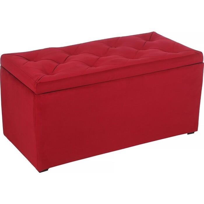 Пуф Мебельстория Тони-3Т красный велюр пуф euroson тони 3 коричневый