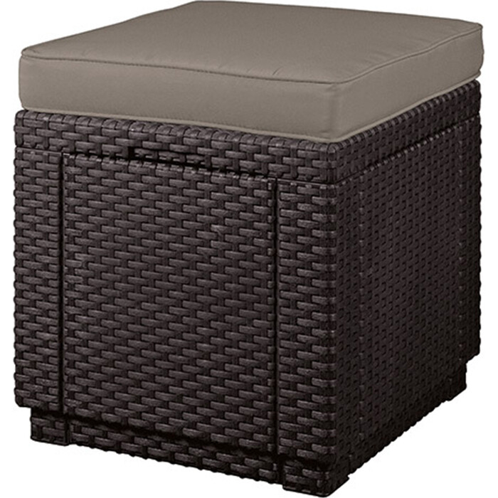 Пуф Keter Cube brn + cus warm taupe (209435)