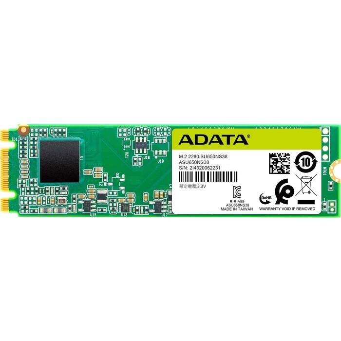 Фото - SSD накопитель ADATA 120GB Ultimate SU650, M.2 2280, SATA III, [R/W - 550/410 MB/s] 3D-NAND TLC ssd накопитель transcend ts120gmts820s 120gb m 2 2280 sata iii ssd ts120gmts820s