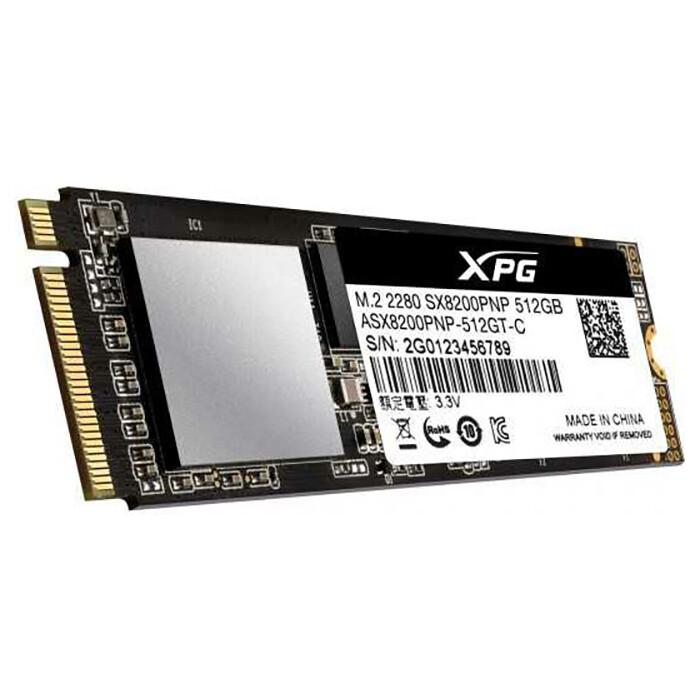 SSD накопитель ADATA 512GB XPG SX8200 Pro, M.2 2280, PCI-E 3x4, [R/W - 3350/2350 MB/s] 3D-NAND TLC