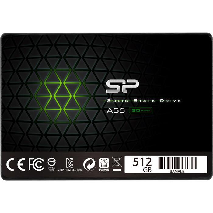 SSD накопитель Silicon Power 512GB A56, 2.5, SATA III [R/W - 560/530 MB/s] TLC