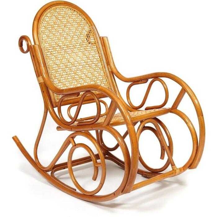 Кресло-качалка разборная TetChair Milano без подушки ротанг top quality Cognac (коньяк)